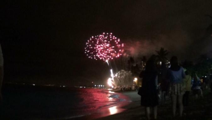 Waikiki Beach Fireworks