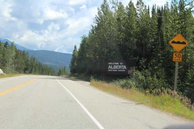 The Alberta border