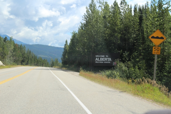 The Alberta border