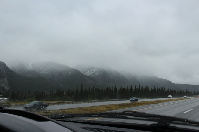 Snow on the way to Calgary