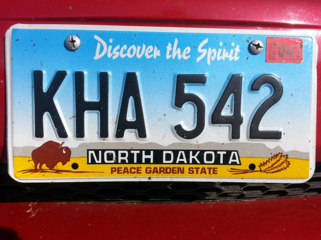 North Dakota License Plate