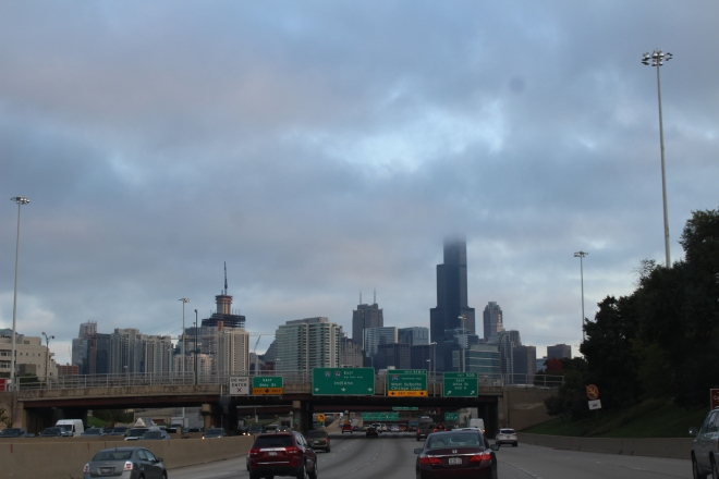 First Glimpse of Willis Tower in Chicago